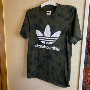 Adidas green tiedye tshirt